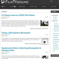 Articles on FilmTVsound.com