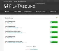 Downloads Section on FilmTVsound.com